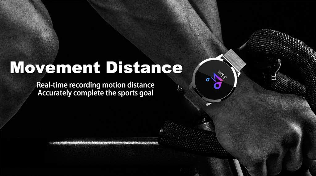 Cywulin Fitness Tracker IP67 Waterproof Smartwatch, Heart Rate Blood Pressure Oxygen Sleep Monitor Activity Tracker Pedometer Calorie Outdoor Sport Bracelet for Android iOS Kids Men Women (Silver) by Cywulin (Image #7)