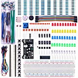 Elegoo Upgraded Electronics Fun Kit w/ Power Supply Module, Jumper Wire, Precision Potentiometer, 830 tie-points Breadboard for Arduino, Raspberry Pi, STM32, Datesheet Available To Download