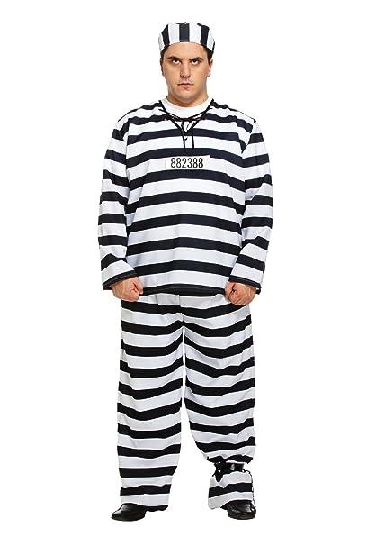 Amazon.com: Prisionero Disfraz infantil de Preso con camisa ...