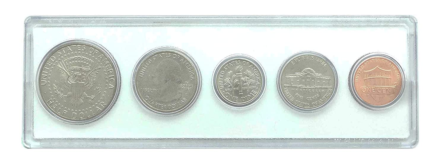 2001-5 Coin Birth Year Set in American Flag Holder Uncirculated