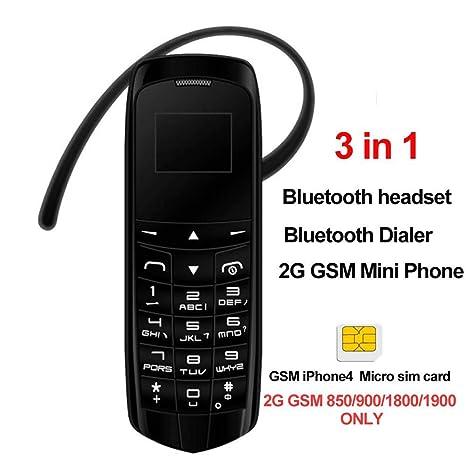 Teléfono Móvil,El teléfono Bluetooth más Pequeño 3 en 1 ...