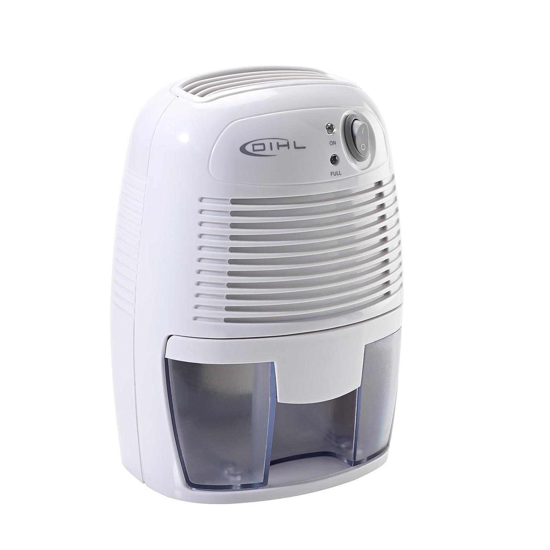 Bathroom dehumidifier uk - Dihl Mini Portable Air Dehumidifier 500 Ml White Amazon Co Uk Kitchen Home
