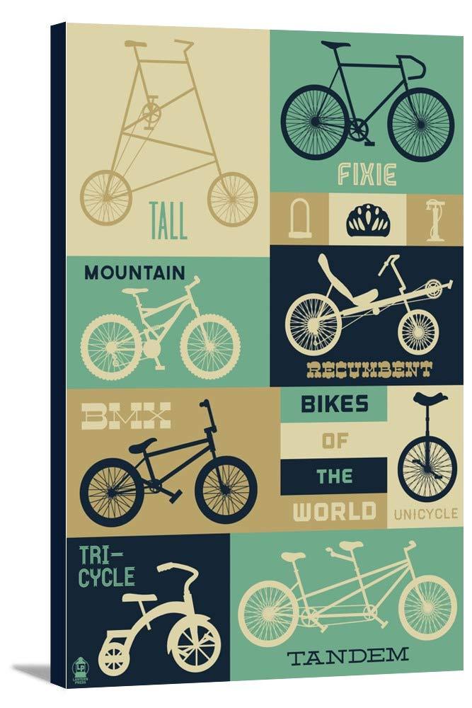 世界の自転車 – Blues 24 x 36 Gallery Canvas LANT-3P-SC-54885-24x36 B0184AYVQG  24 x 36 Gallery Canvas