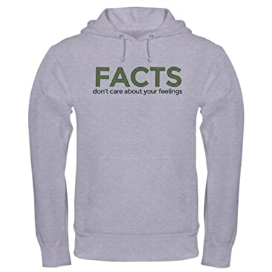 297cffb17 CafePress Facts Dont Care Pullover Hoodie, Classic & Comfortable Hooded  Sweatshirt Heather Grey