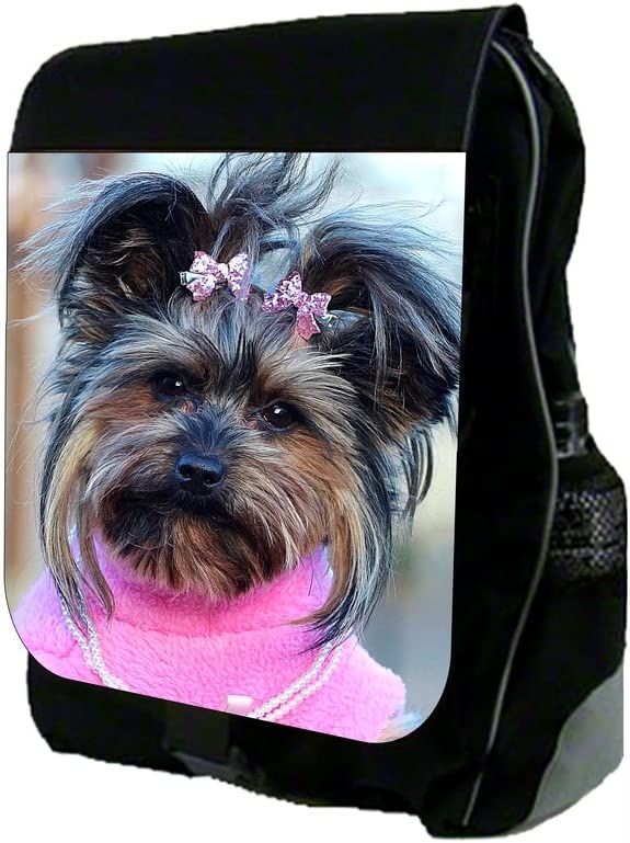 TM School Backpack and Pencil Case Set Yorkie In Pink Rosie Parker Inc