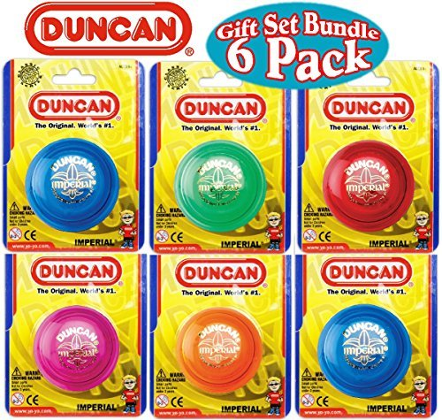 Duncan Yo-Yo Imperial Gift Set Bundle - 6 Pack (Assorted Colors) by Duncan