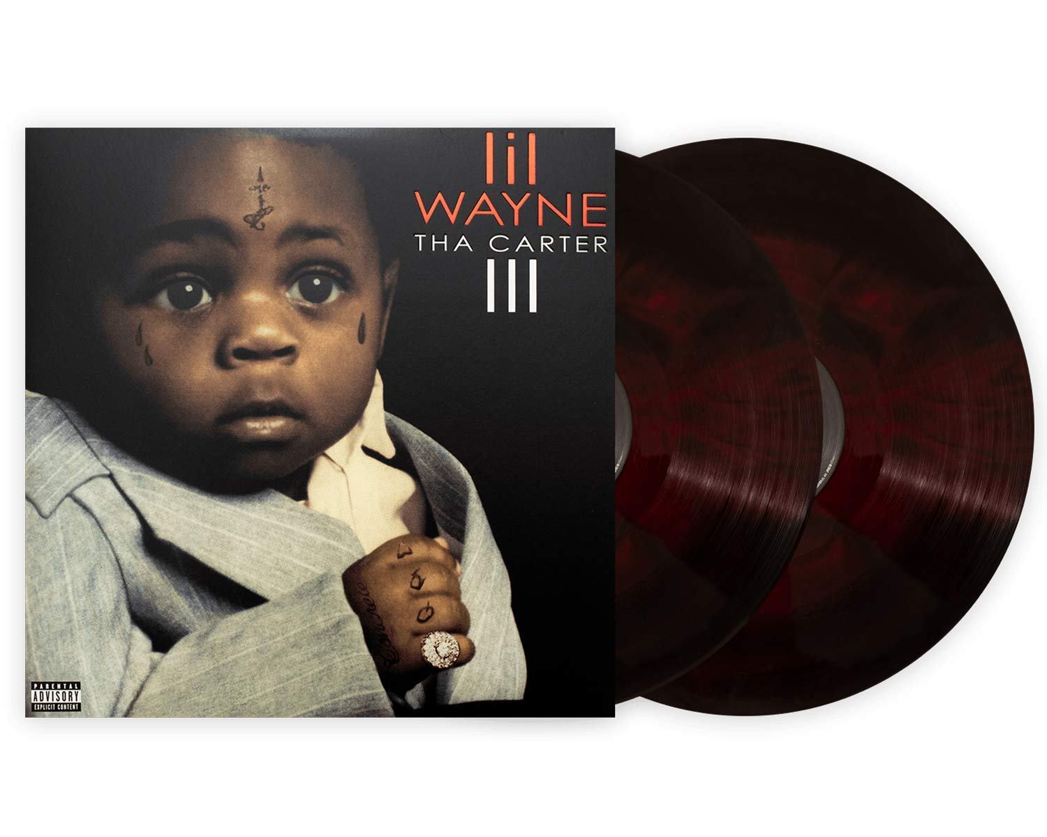 Lil Wayne - Tha Carter III Deluxe Club Edition Vinyl 180 gram Red and Black Galaxy 2X Vinyl LP by Cash Money Records