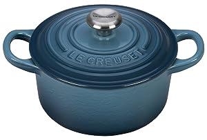 Le Creuset Signature Enameled Cast-Iron 1-Quart Round French (Dutch) Oven, Marine