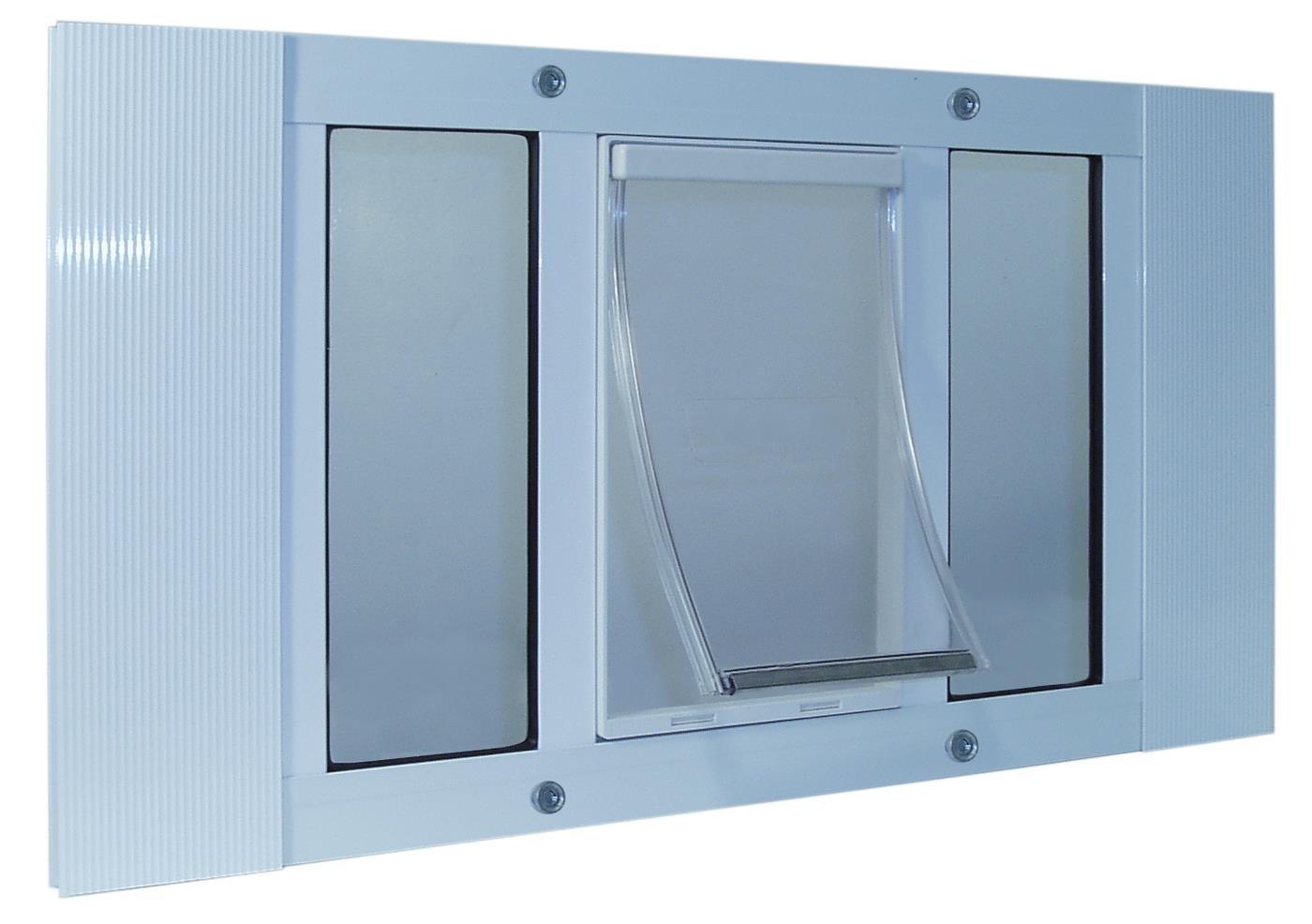 Ideal Pet Products 23SWDM Aluminum Sash Window Pet Door, Medium/7'' x 11.25'', White