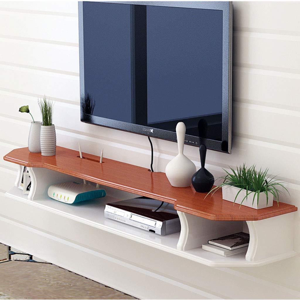 壁掛けテレビキャビネットフローティング棚ウォールシェルフマルチメディアWiFiルータースカイボックスセットトップボックスケーブルボックス収納棚 (色 : A, サイズ さいず : 110cm) B07MLK5BW7 A 110cm