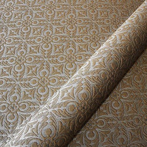 Matelasse Upholstery Fabric (Joseph Noble Brown Bronze French Quatrefoil Pattern Matelasse Upholstery Fabric by the yard)