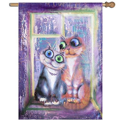 BINGOGO Yard and Home Outdoor Decor - Two Cat's Window Impor