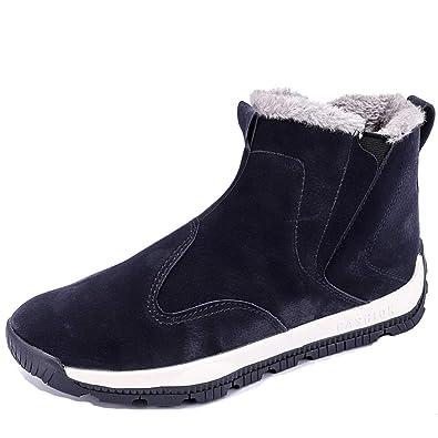 NASONBERG Herren High-Top Sneakers Wasserdichte Warm Gefütterte  Winterschuhe Stiefel für Männer Gr.39 375c5c1839