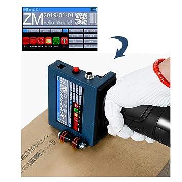 Máquina de codificación Inteligente de codificador Inteligente para impresoras de inyección de Tinta de Mano Pantalla táctil LED + Impresión de Cartucho ...
