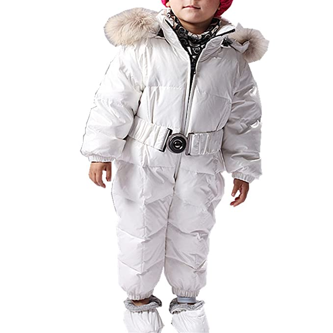 QJH - Traje de nieve - Plumaje - Manga Larga - para bebé niño ...