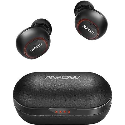 【24時まで】Mpow レザー調充電ケース付 高音質Bluetooth完全ワイヤレスイヤホン M5 送料込3,899円