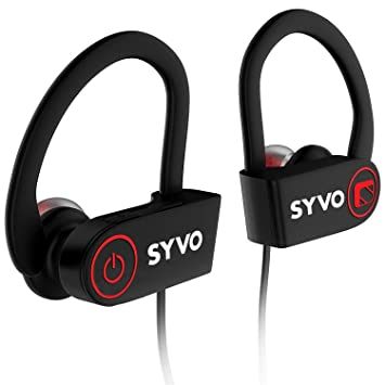 Buy Syvo Flame Wireless Bluetooth Earphones With Microphone Ipx7 Waterproof Sports Design With Carry Case Hd Sound Super Bass Black Online At Low Prices In India Amazon In