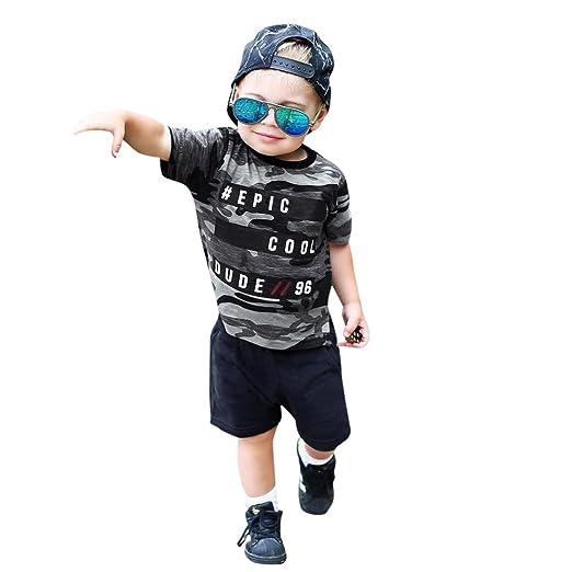 0912e342c45d Amazon.com  Infant Baby Boy Summer Cute Outfits 2 Pcs Set