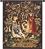 Home Furnishings, Gift of the Heart, Belgian Tapestry Wall Hanging, Wall Art Decor, 33 by 39 Inch