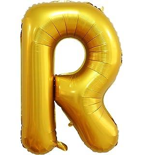 lanxun 40 inch golden helium foil letter balloons letter r