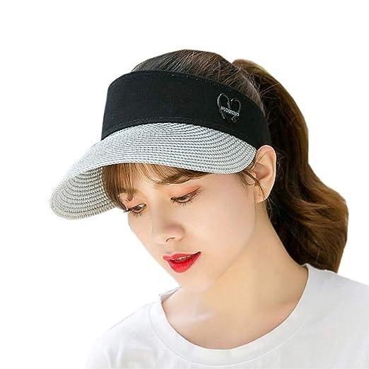 XUERUI Sombreros Sombrero para El Sol Mujer Golf Movimiento Visera ...
