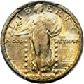 1918 S Standing Liberty Quarters 1918/7-S Quarter MS64 PCGS FH