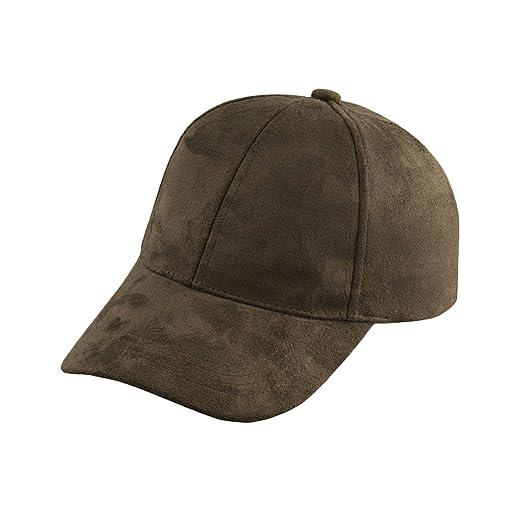 f4bf0995796ca Generic Fashion Men Women Suede Baseball Cap Snapback Visor Sport Sun  Adjustable Hat (Army Green