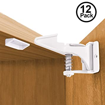 Easy Install No Tools Drilling 8 Pack GOOD STUFF Baby Safety Cabinet Latches