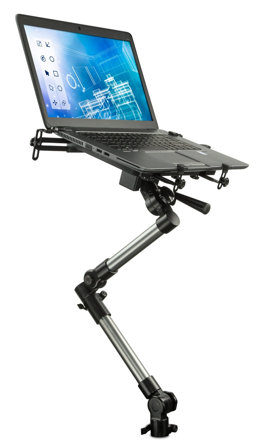 Mount-It! MI-526 Car Laptop Mount Notebook Tablet Holder for Commercial Vehicles, Trucks Fits iPad and Other Tablet Computers, Heavy-Duty Design with Full Motion Tray, Extendable Arms, Lockable Arm by Mount-It!