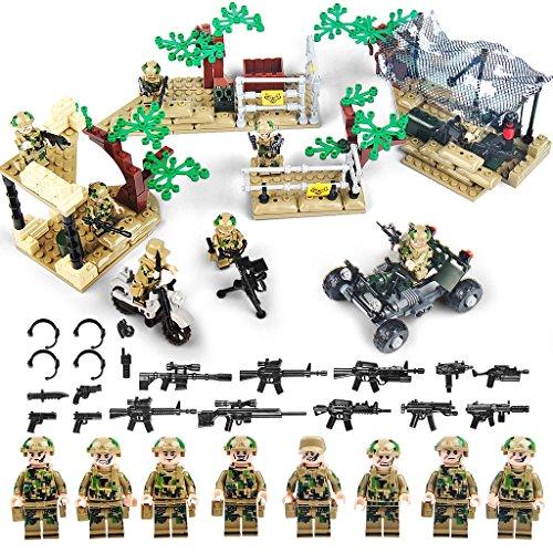 KAZI Military War World Soldiers Army Minifigures Set,Army Men Building Bricks 100% Compatible,363 Pcs