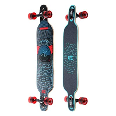 "DB Longboards Pioneer 40"" Oceans Drop Through Maple Longboard Complete : Sports & Outdoors"