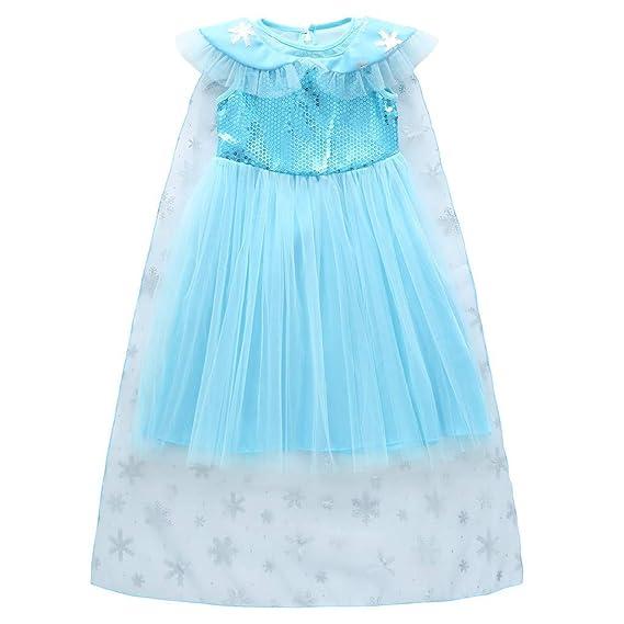 Baiomawzh Niñas Vestido de Princesa Cosplay Disfraz Chicas ...