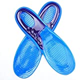OUBAO Plantar Fasciitis Feet Insoles Arch Supports Orthotics Inserts Relieve Flat Feet, High Arch, Foot Pain (Blue, Size:31.5cm/12.4'' Suitable Shoe Size:44-50)