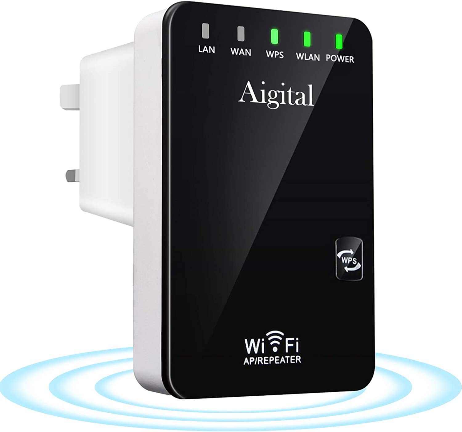 Aigital WiFi Range Extender Repeater 300Mbps Wireless Signal ...