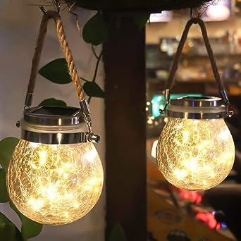 Luces de Jardin Solares LáMparas Solares Exterior Luces Led Solares Para Exteriores 20 Luces Led de