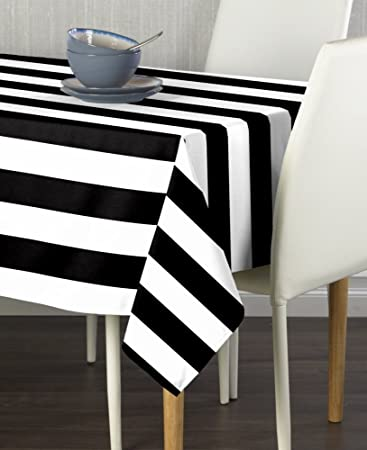 Black U0026 White Cabana Stripe Milliken Signature Tablecloths   Assorted Sizes  (60u0026quot ... Part 83