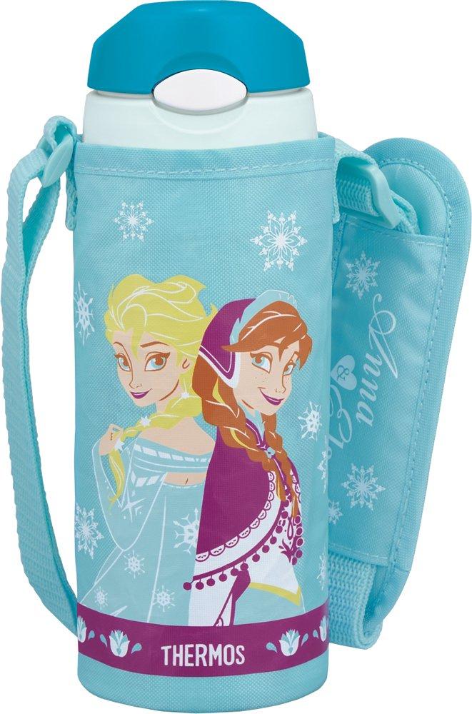 サーモス 真空断熱 ストローボトル ディズニー アナと雪の女王