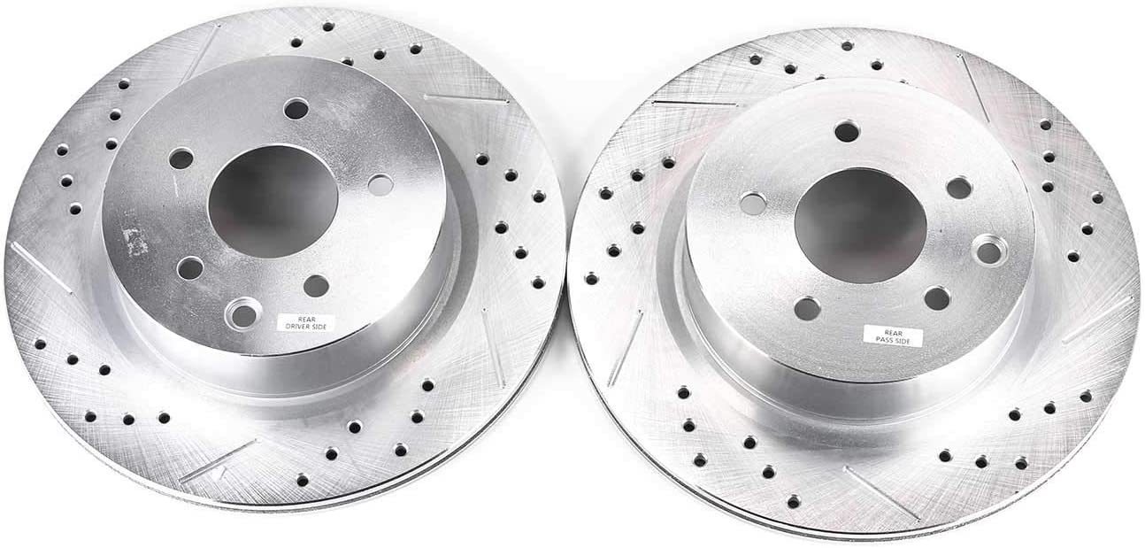 Power Stop JBR1595XPR Rear Evolution Drilled /& Slotted Rotor Pair