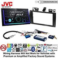 Volunteer Audio JVC KW-X830BTS Double Din Radio Install Kit with Bluetooth SiriusXM Ready Fits 2000-2005 Cadillac Deville, 1996-2004 Seville With Bose