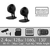 Samsung SNH-V6414BMR SmartCam HD Full HD 1080p Wi-Fi Camera Bundle Double Pack, Black (Certified Refurbished)