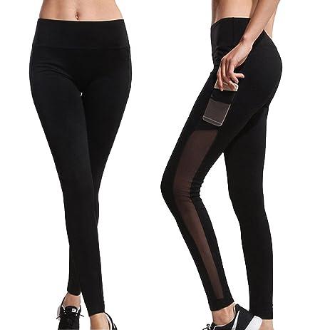 Cross Sexy Womens Full Mesh See Through Yoga Pants Leggings Soft Fitness Casual Solid Joggers Capris