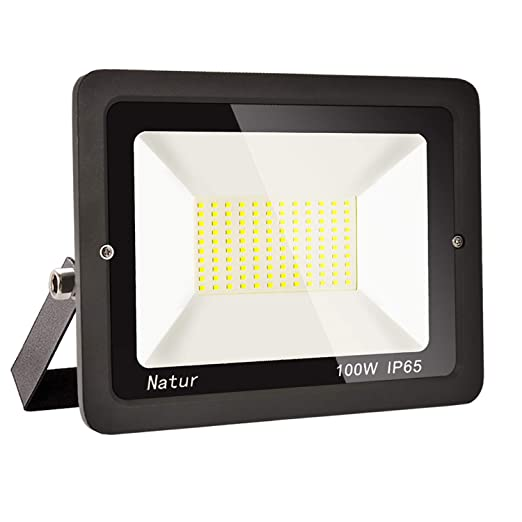 100W LED Foco exterior alto brillo Proyector led exterior de impermeable IP65,Blanco frío 6000K Iluminación led de seguridad, luz led para patio, ...