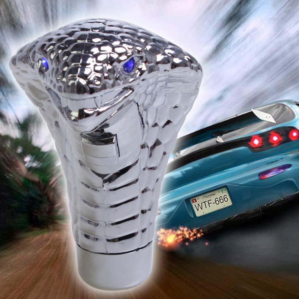 Poign/ée de vitesse manuelle//arr/êt automatique compatible avec la plupart des voitures Pommeau de levier de vitesse avec LED Touch active Ultra Blue Eye LED