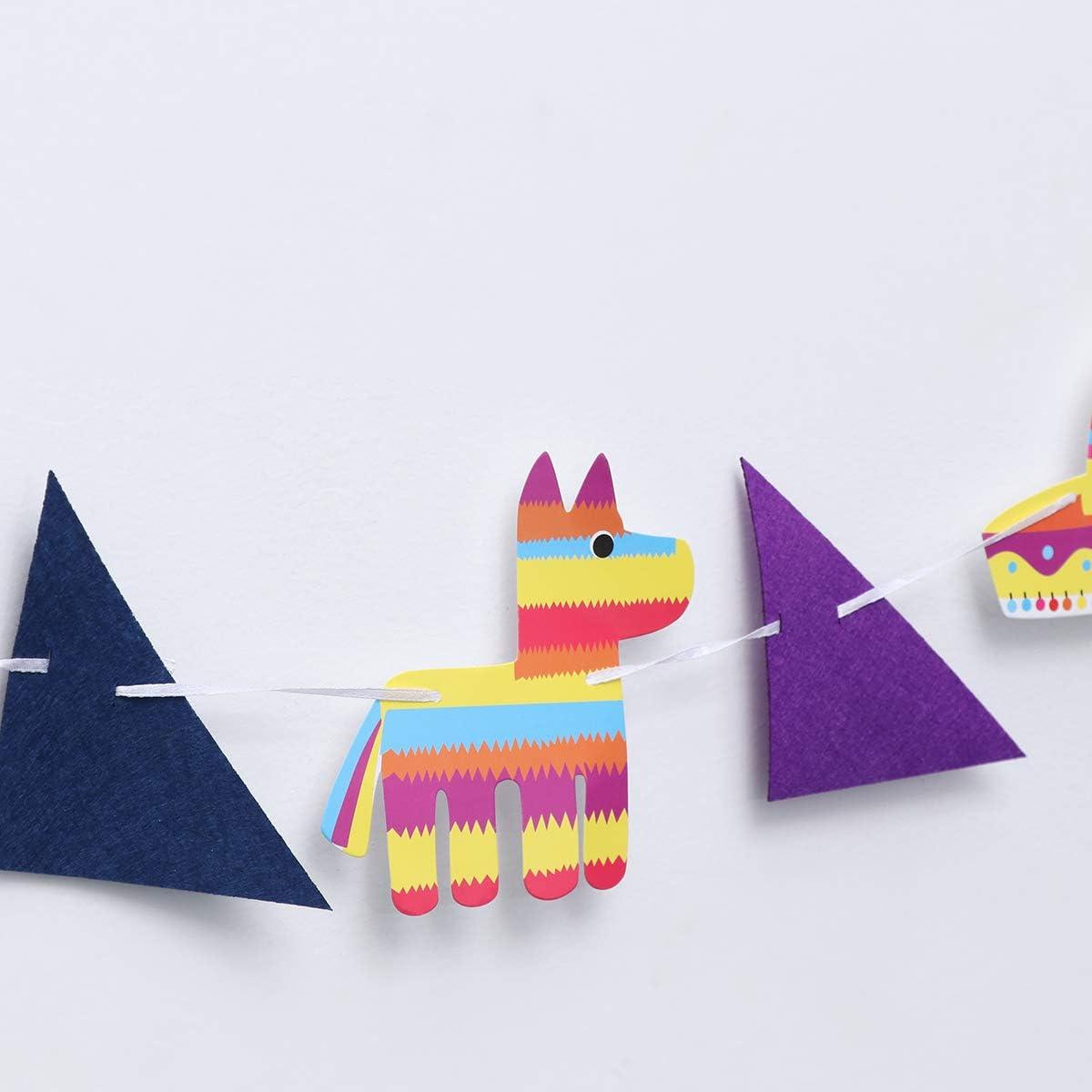 Amosfun /Ét/é Pinata Parti D/écoration Banni/ère Th/ème Mexicain F/ête danniversaire D/écoration Fournitures Chapeau De Cactus Banni/ère