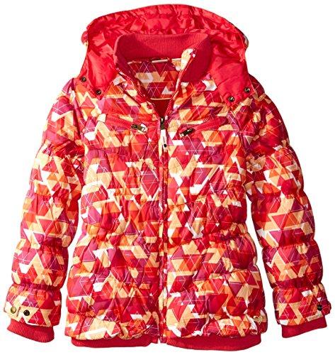 Roxy Big Girls' Shredding Hooded Coat, Rose Red, 10 by Roxy