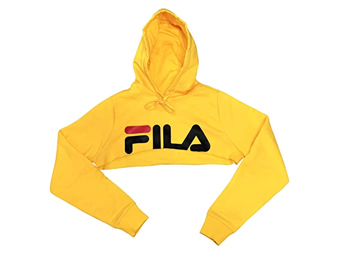 4ef19fd6 Fila Nelia Shrug Super Cropped Hoodie Mustard Yellow at Amazon ...