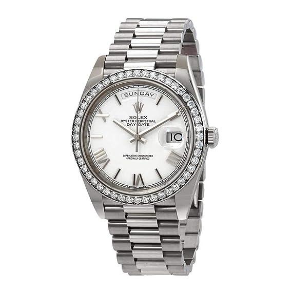 Rolex 228349WRP - Reloj de pulsera para hombre con esfera blanca de diamante (40 días