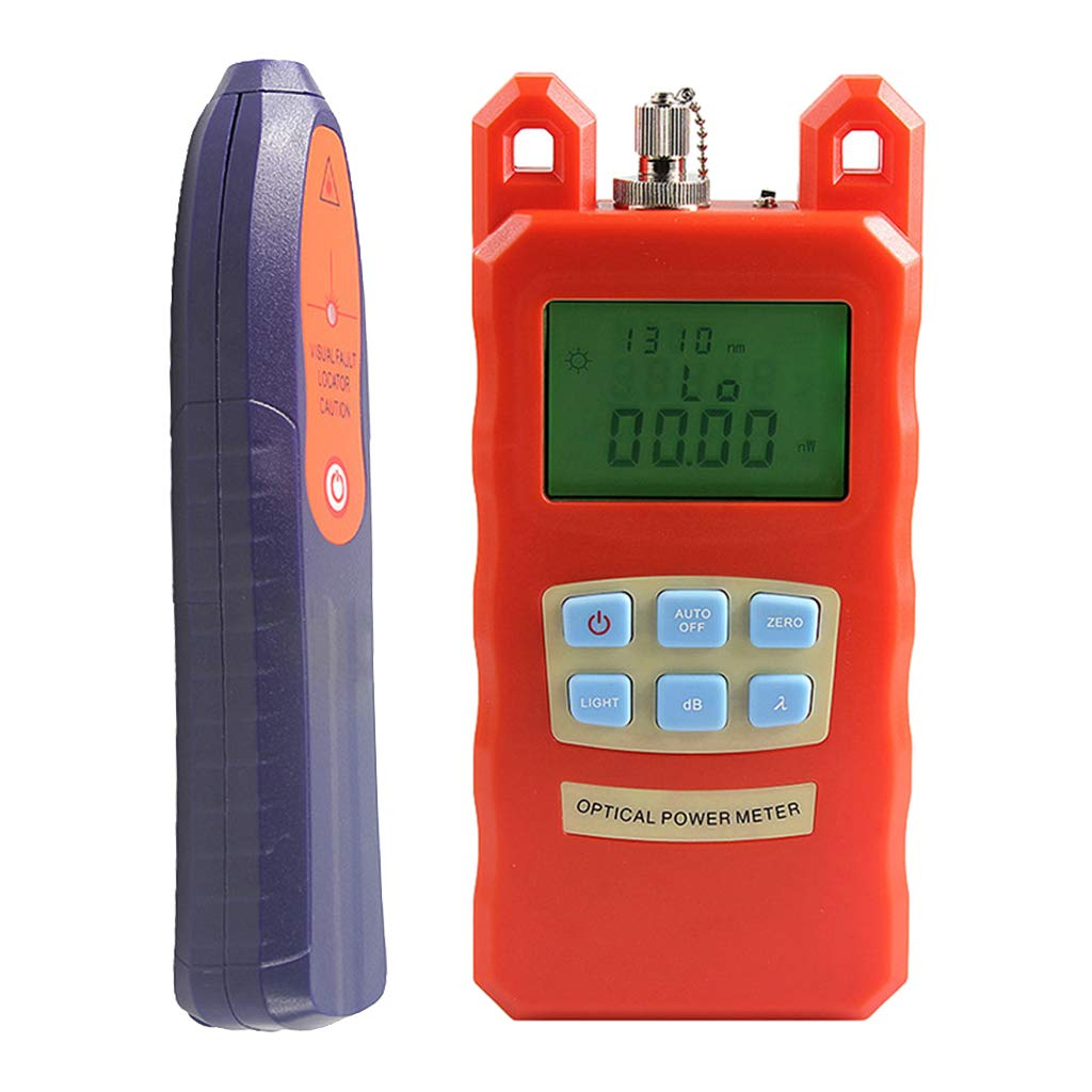SM SunniMix AUA-70C -70dBm~+10dBm 850~1625nm Optical Power Meter Tester FC SC Handheld Optical Power Meter + with 30mW Visual Fault Locator Pen Tools