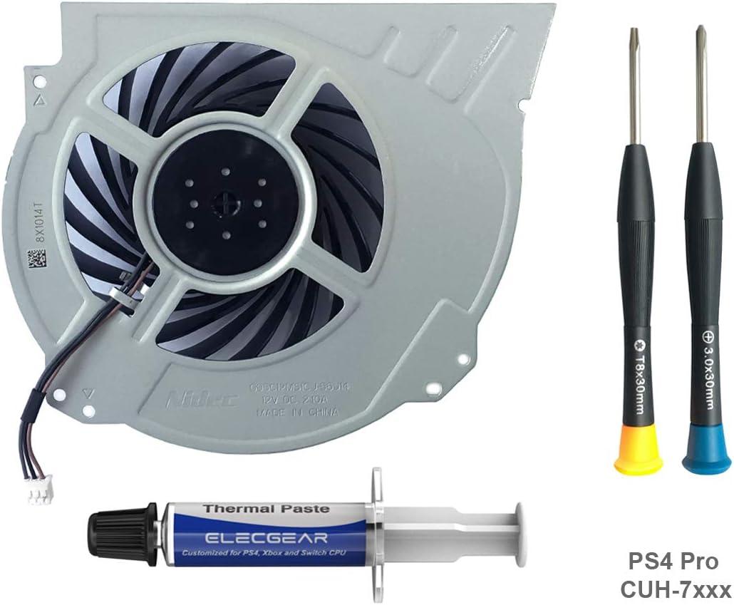 ElecGear Ventilador de Refrigeración para PS4 Pro CUH-7xxx ...