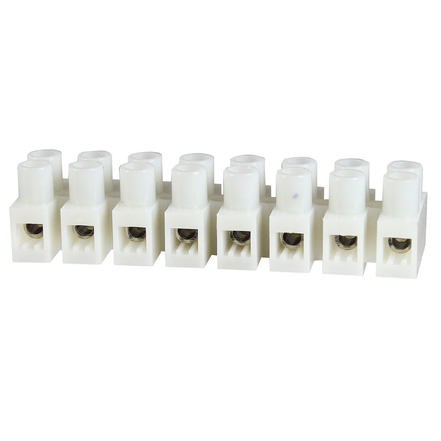 ASI MY8HW-1.2-8.0-8P  Euro Style Terminal Strip Panel Mount, 8 Position, 8 mm Pitch, 20  Amp, 600V, 20 - 12 AWG, White Nylon, Horizontal Wire Entry (Pack of 25) by Automation Systems Interconnect